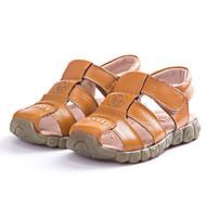 tanie Obuwie chłopięce-Dla chłopców Buty Skórzany Wiosna Lato Comfort Sandały na Casual White Black Yellow Brown