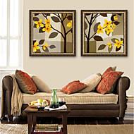 billige Innrammet kunst-Blomstret/Botanisk Tegning Veggkunst,PVC Materiale med ramme For Hjem Dekor Rammekunst Stue Innendørs
