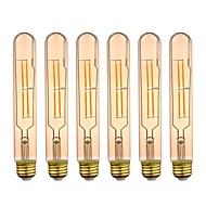 tanie Więcej Kupujesz, Więcej Oszczędzasz-GMY® 6szt 4W 320 lm E26 Żarówka dekoracyjna LED T10L 4 Diody lED COB Przysłonięcia Dekoracyjna LED Light Ciepła biel AC 110-130V
