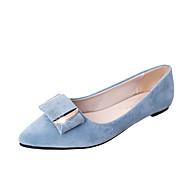 preiswerte -Damen Schuhe Stoff Sommer Komfort Flache Schuhe Flacher Absatz Runde Zehe Schleife für Schwarz Beige Blau Rosa