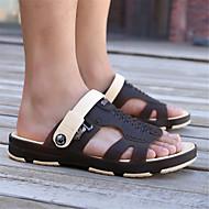 baratos Sapatos Masculinos-Homens Materiais Customizados Verão Conforto Chinelos e flip-flops Cinzento / Café / Verde