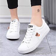 baratos Sapatos Femininos-Mulheres Lona Verão Conforto Tênis Sem Salto Dedo Fechado Branco / Preto / Azul