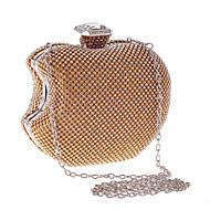 baratos Clutches & Bolsas de Noite-Mulheres Bolsas Poliéster Bolsa de Festa Detalhes em Cristal Dourado / Preto / Prata