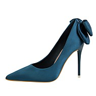 Mujer Zapatos Vaquero Primavera / Verano Pump Básico Tacones Tacón Stiletto Dedo Puntiagudo Volantes Beige / Azul Claro / Fiesta y Noche uIoyXW9Us