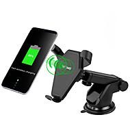 お買い得  車用チャージャー-qiワイヤレス充電器車のスティックマウントスタンドホルダー高速充電2.0 samsungノート8 s8プラスs7 for iphone x8車の吸引マウントスタンド