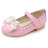 baratos Sapatos de Menina-Para Meninas sapatos Courino Primavera Outono Conforto Sapatos para Daminhas de Honra Rasos para Casual Branco Azul Rosa claro