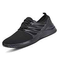 baratos Sapatos Masculinos-Homens Couro Ecológico Outono / Inverno Conforto Tênis Atletismo Branco / Preto
