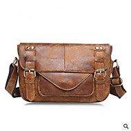 cheap Satchels-Men's Bags PU Satchel Buttons for Casual All Seasons Brown