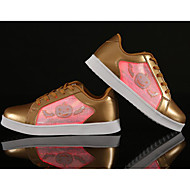cheap Women's Sneakers-Women's Shoes Patent Leather Spring Fall Comfort Sneakers Flat Heel for Casual Gold White Black Silver Pink