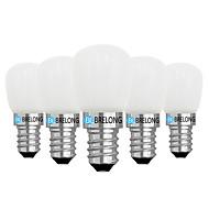 billige Globepærer med LED-BRELONG® 5pcs 2W 120 lm E14 E12 LED-globepærer 1 leds COB Mulighet for demping Varm hvit Hvit AC 220V