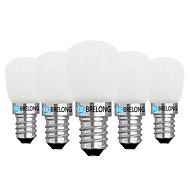 halpa -BRELONG® 5pcs 2W 120lm E14 E12 LED-pallolamput 1 LED-helmet COB Himmennettävissä Lämmin valkoinen Valkoinen 220V