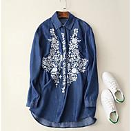 cheap Women's Tops-Women's Casual Cotton Shirt Print Shirt Collar