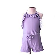 billige Badetøj-Pige Ensfarvet Badetøj, Akryl Lilla