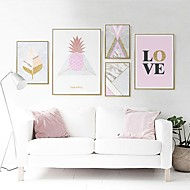 billige Innrammet kunst-Ordtak Veggkunst,Polystyrene Materiale med ramme For Hjem Dekor Rammekunst Stue