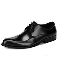 Muškarci Cipele Koža Proljeće Jesen svečane cipele Vjenčanje Cipele za Ured i karijera Crn Burgundac