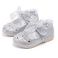 baratos Sapatos de Menina-Para Meninas Sapatos Courino Primavera / Outono Conforto / Sapatos para Daminhas de Honra Rasos para Dourado / Prata / Rosa claro
