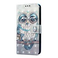 billiga Mobil cases & Skärmskydd-fodral Till Huawei P9 lite mini Korthållare Plånbok med stativ Lucka Magnet Mönster Fodral Uggla Hårt PU läder för P9 lite mini Huawei
