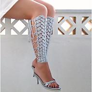 お買い得  靴用品-ファブリック 足のアクセント 女性用 夏 カジュアル ホワイト ブラック ライトグレー