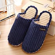 baratos Sapatos Masculinos-Homens Flanelado Inverno Conforto Chinelos e flip-flops Azul Escuro / Café / Azul