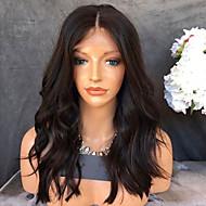 Ljudska kosa Lace Front Perika Peruanska kosa Prirodne kovrče 150% Gustoća Srednji dio Prirodna linija za kosu Kratko Medium Dug Perike s