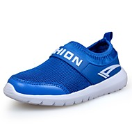 baratos Sapatos de Menino-Para Meninos Sapatos Tule / Courino Primavera Conforto Tênis Corrida para Branco / Azul Escuro / Azul Real