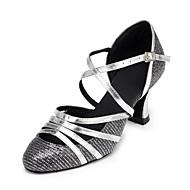 billige Moderne sko-Dame Moderne Kunstlær Sandaler Joggesko Innendørs Trening Trimmer Stiletthæl Svart Kan spesialtilpasses