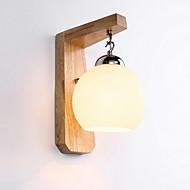 billige Vegglamper-Øyebeskyttelse Land Vegglamper Soverom Tre / Bambus Vegglampe 220V 3W