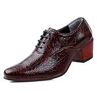 Miesten PU Kevät / Syksy Comfort Oxford-kengät Musta / Tumman sininen / Burgundi
