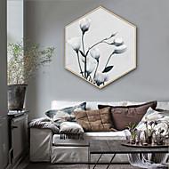 billige Innrammet kunst-Landskap Blomstret/Botanisk Tegning Veggkunst,Plastikk Materiale med ramme For Hjem Dekor Rammekunst Stue Innendørs