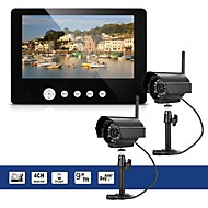 billige Trådløst CCTV System-2 x digitalkamera med 9 lcd skjerm dvr trådløst sett hjemme cctv sikkerhetssystem