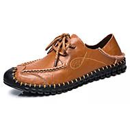 Muškarci Cipele PU Ljeto Udobne cipele Oksfordice za Kauzalni Crn Braon