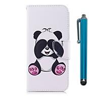 billiga Mobil cases & Skärmskydd-fodral Till LG K10 (2017) Korthållare Plånbok med stativ Lucka Magnet Fodral Panda Hårt PU läder för LG K10 (2017) LG K8 LG K7