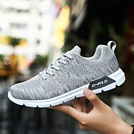 baratos Sapatos Masculinos-Homens Tule Primavera / Outono Conforto Tênis Corrida Preto / Azul Escuro / Cinzento Claro
