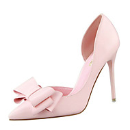 Women's Shoes PU Spring Summer Comfort Basic Pump Heels Stiletto Heel  Pointed Toe Closed Toe Bowknot for Party & Evening Office & Career