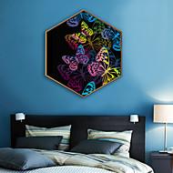 billige Innrammet kunst-Abstrakt Dyr Tegning Veggkunst,Plastikk Materiale med ramme For Hjem Dekor Rammekunst Stue Innendørs