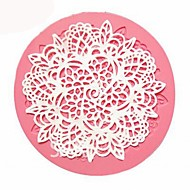 billige Bakeredskap-blonder silikon mold sukker håndverk fondant mat baking mold kake dekorere verktøyet