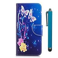 billiga Mobil cases & Skärmskydd-fodral Till Sony Xperia XZ Premium Xperia XZ1 Korthållare Plånbok med stativ Lucka Magnet Fodral Fjäril Hårt PU läder för Xperia XZ1