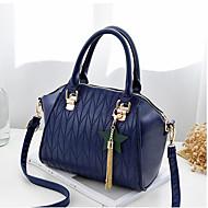 baratos Bolsas de Ombro-Mulheres Bolsas PU Bolsa de Ombro Ziper Cinzento Escuro / Vinho / Azul Real
