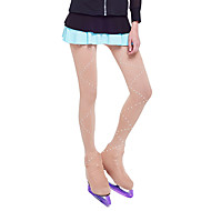 cheap -Over The Boot Figure Skating Tights Women's / Girls' Ice Skating Leggings Khaki Spandex Stretchy Competition Skating Wear Solid Colored / Sequin Figure Skating