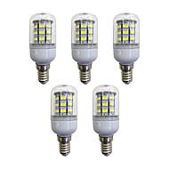 billige Kornpærer med LED-5pcs 3.5W 280 lm E12/E14 LED-kornpærer 60 leds SMD 2835 LED Lys Hvit AC 110-120V