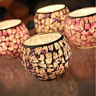 billiga Heminredning-Minimalistisk Stil / Modern Glas Ljushållare 1st, Ljus / ljushållare