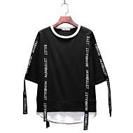 男性用 クラブ プラスサイズ Tシャツ 活発的 ラウンドネック レタード コットン
