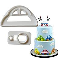 billige Bakeredskap-Cake Moulds Bil For Godteri Til Kake Til Sjokolade For Småkake Kake Plastikker Rustfritt Stål 430 GDS Valentinsdag Bursdag 3D baking Tool