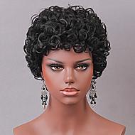 Dámské Paruka na vlasy bez vlasů Kudrny Krátký Černá