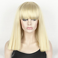 fashion wig women s short bob kinky straight full bangs synthetic hairpieces 14 blonde cosplay wig