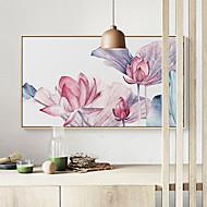 baratos Quadros com Moldura-Paisagem Floral/Botânico Ilustração Arte de Parede,Plástico Material com frame For Decoração para casa Arte Emoldurada Sala de Estar