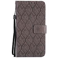 billiga Mobil cases & Skärmskydd-fodral Till Sony Xperia XZ Xperia XA1 Korthållare Plånbok med stativ Lucka Mönster Fodral Ensfärgat spetsar Utskrift Hårt PU läder för Z5