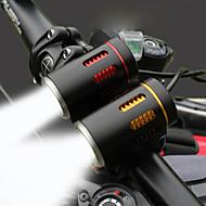 billige Sykkellykter og reflekser-Frontlys til sykkel / Baklys til sykkel / Sett med oppladbare sykkellykter LED Sykkellykter LED Sykling Med laderkabler, Rask installasjon, Flere moduser Oppladbart Batteri 2400 lm Oppladsbare