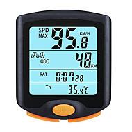 billige Sykkelcomputere og -elektronikk-West Biking® Syling Accessories Led Display  Vanntett Stoppklokke 24 Funksjons Sykkel Computer Odometer Speedometer