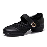 billige Moderne sko-Dame Moderne Nappa Lær Joggesko utendørs Profesjonell Lav hæl Svart Rød Kan spesialtilpasses